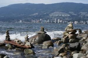 Nuk nuks off of Stanley Park overlooking North Vancouver