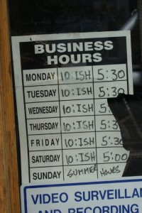 Banker's hours in the Canadian Rockies