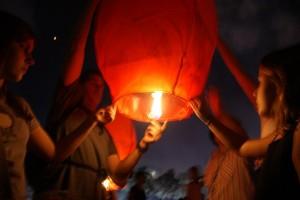 Sending up our lantern