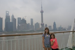 Shanghai Skyline (Pudong District) from our ferry boat