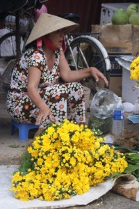 One of 100 market flower ladies
