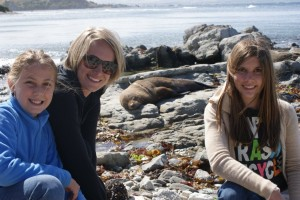 Not our National Geo swim with the seals, but it was still fun to poise with this sleeping lump of cuteness!
