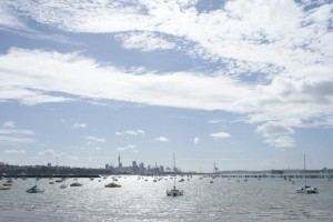 The city of Auckland from Mission Bay