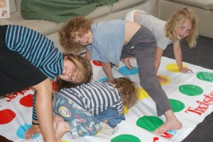 "7am Twister anyone?  ""Kids in New Zealand are just like kids in the US but they talk funny"" says Phoebe."