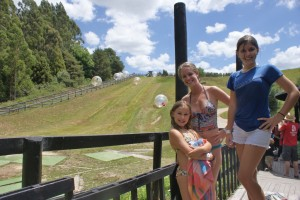 Phoebe, Olivia, and Tessa - post-zorbing