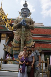 Us with one of the Emerald Buddhas giant guards