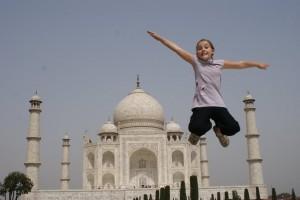 Taj phoebe jumping