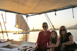 We went sailing on the Nile at sunset on a felucca...