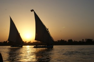 luxor sunset on nile
