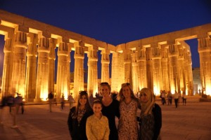 Luxor Temple with our guide!