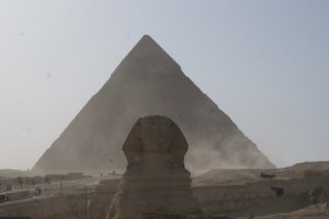 Couldn't open my blog about Egypt without posting my version of the Sphinx and the Pyramid...