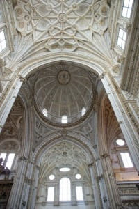 "A bit of the ""new"" cathedral's ceiling"