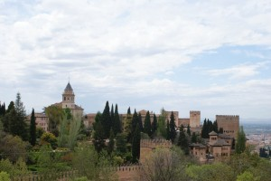 The Alhambra as seen from the Generalife Gardens