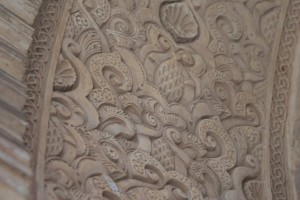 The carvings up close - most impressive...