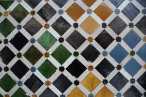 Every room in the Palace had different tile work - the patterns were endless and the tile was teenie tiny.