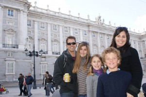 In front of the Royal Palace (I think - so many pretty buildings!)